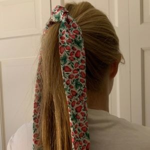 Strawberry hair scarf/bow